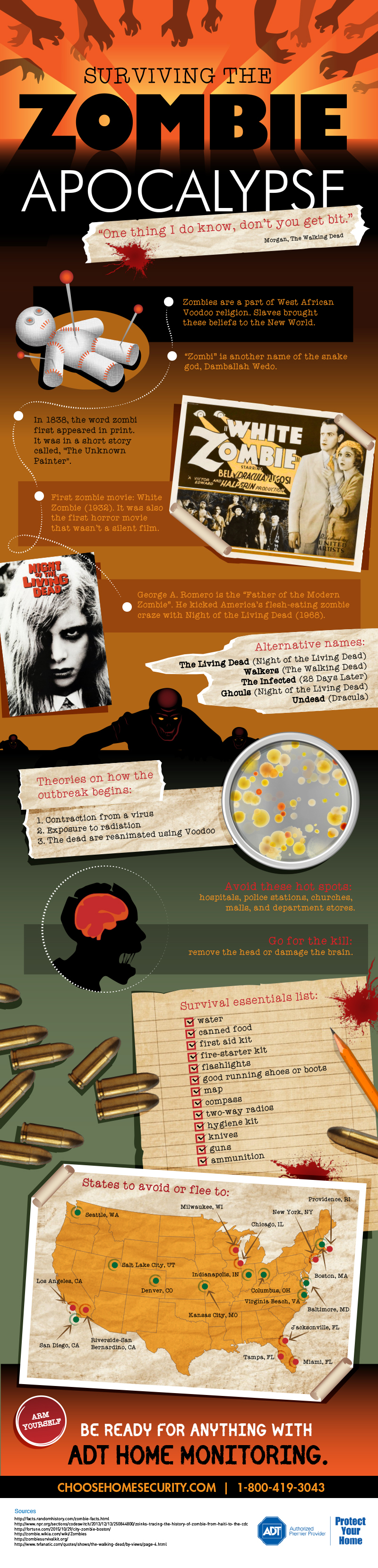 Surviving the Zombie Apocalypse by Choose Home Security