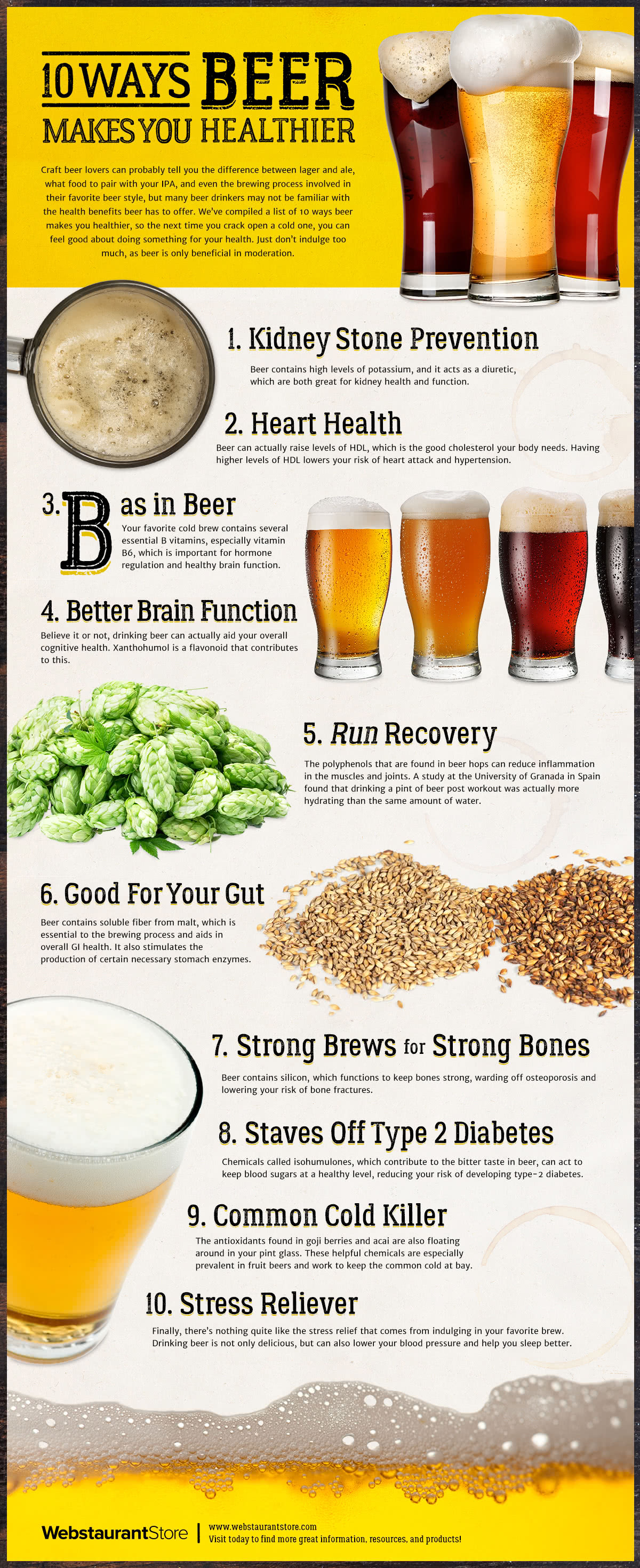 10 Ways Beer Makes You Healthier by WebstaurantStore
