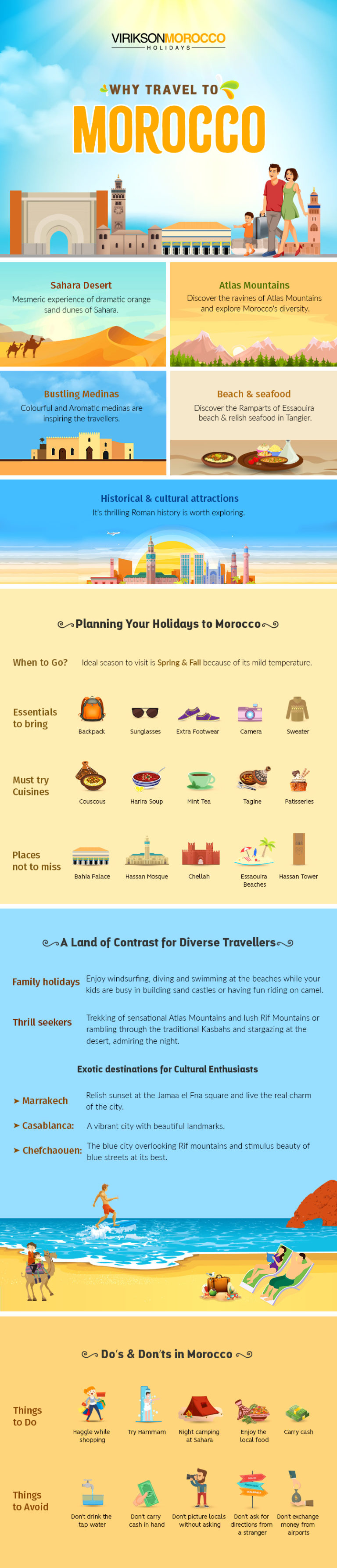 Why Travel to Morocco by Virikson Morocco Holidays