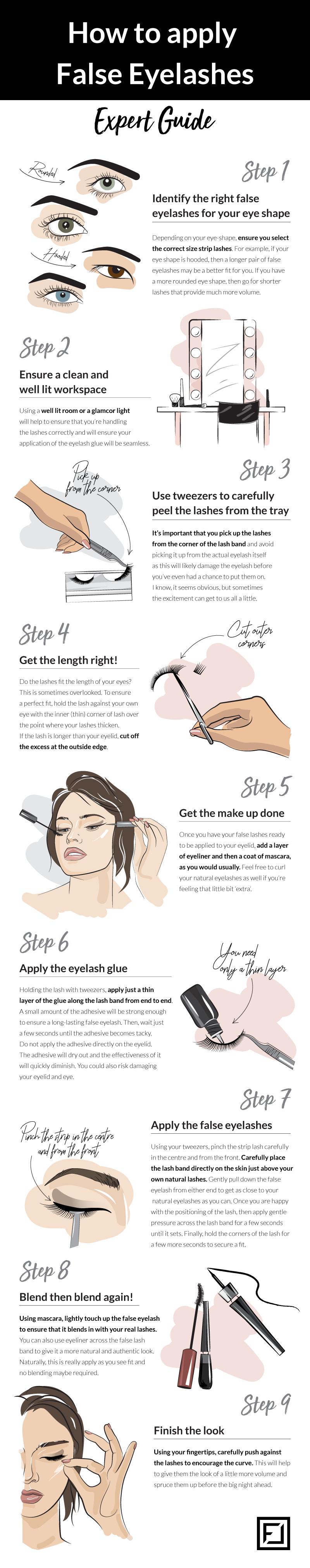 How to Apply False Eyelashes from Flawless Lashes by Loreta