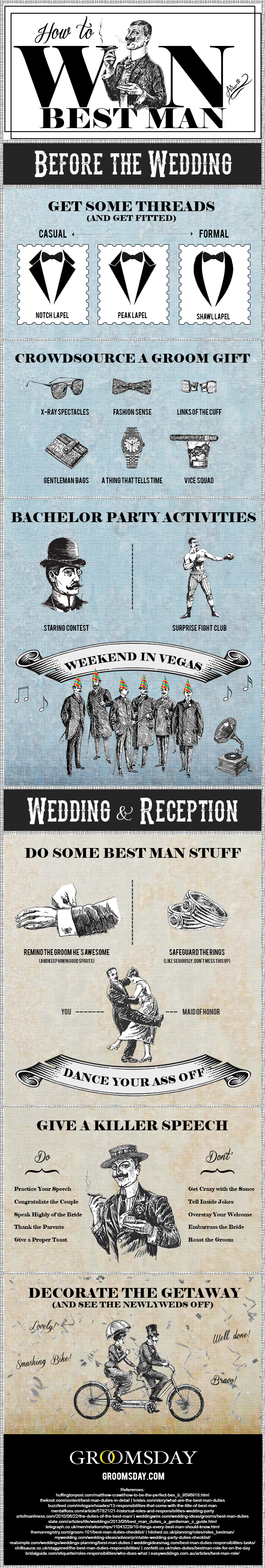 How to Win as Best Man by Groomsday