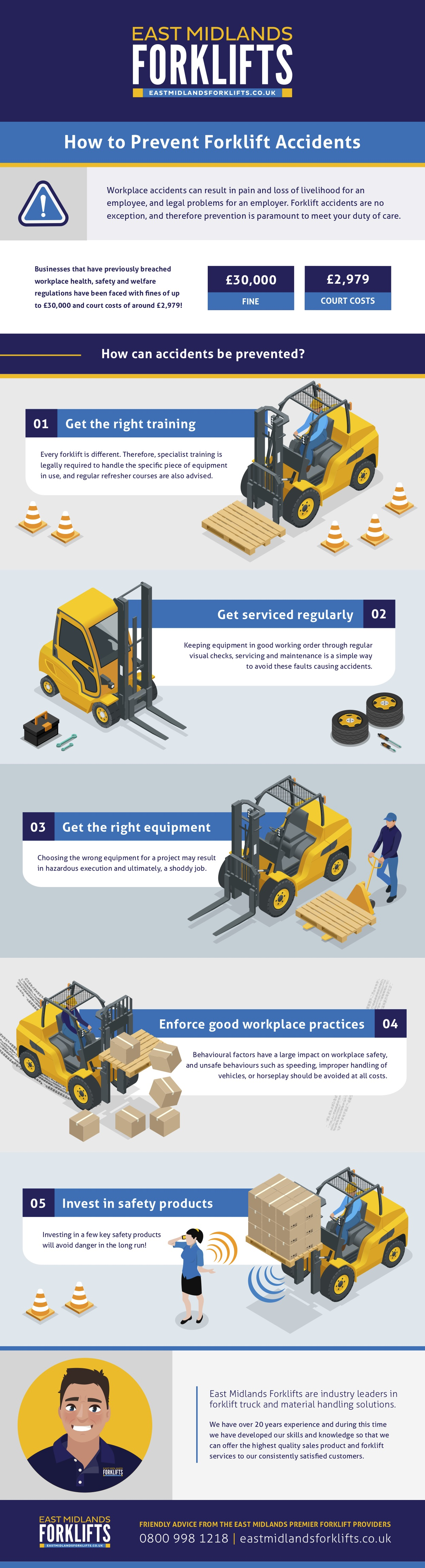 5 Ways To Prevent Forklift Accidents by East Midlands Forklifts