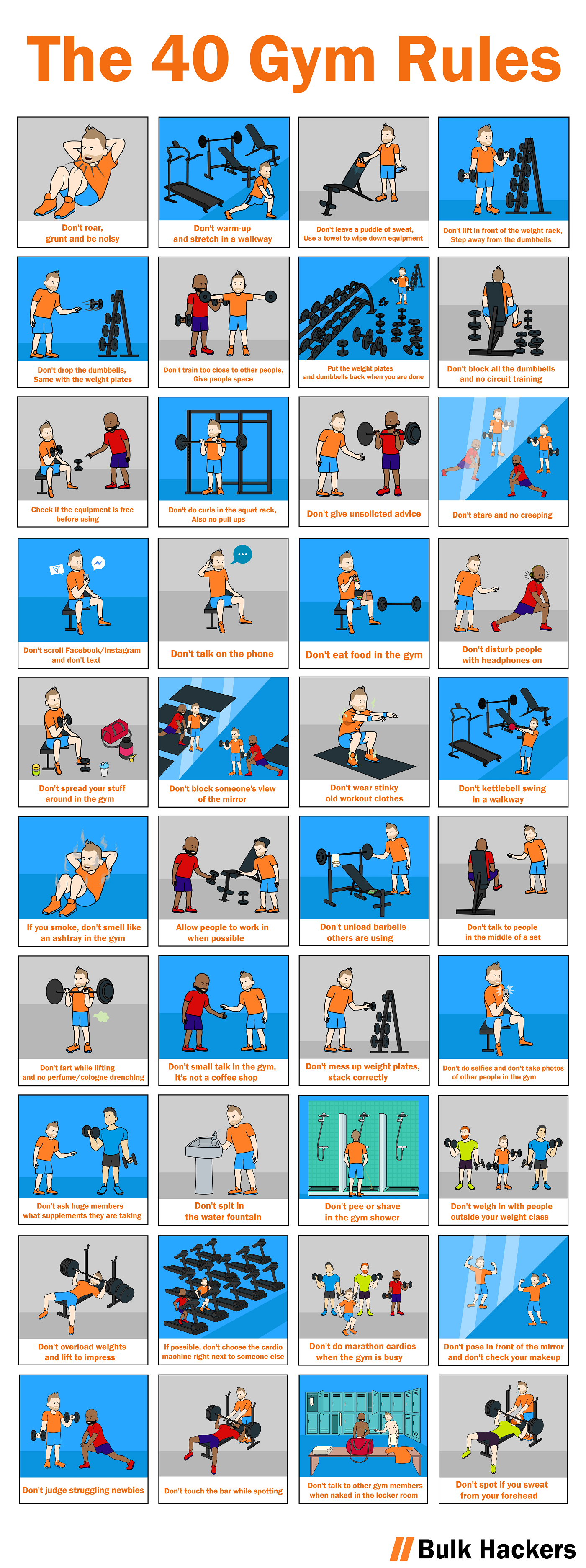 The 40 Gym Rules by Bulk Hackers
