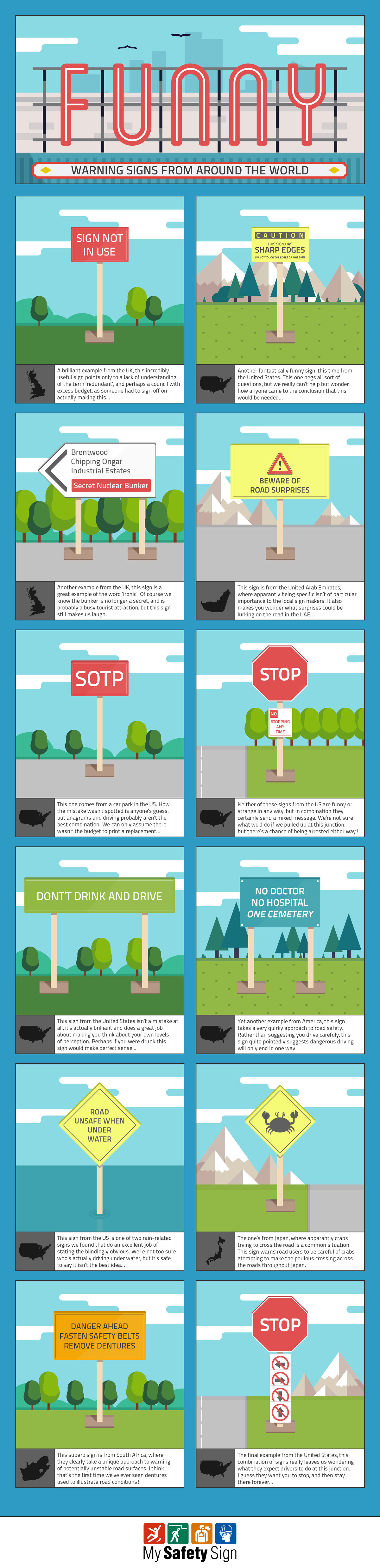 Funny Warning Signs From Around The World by MySafetySign