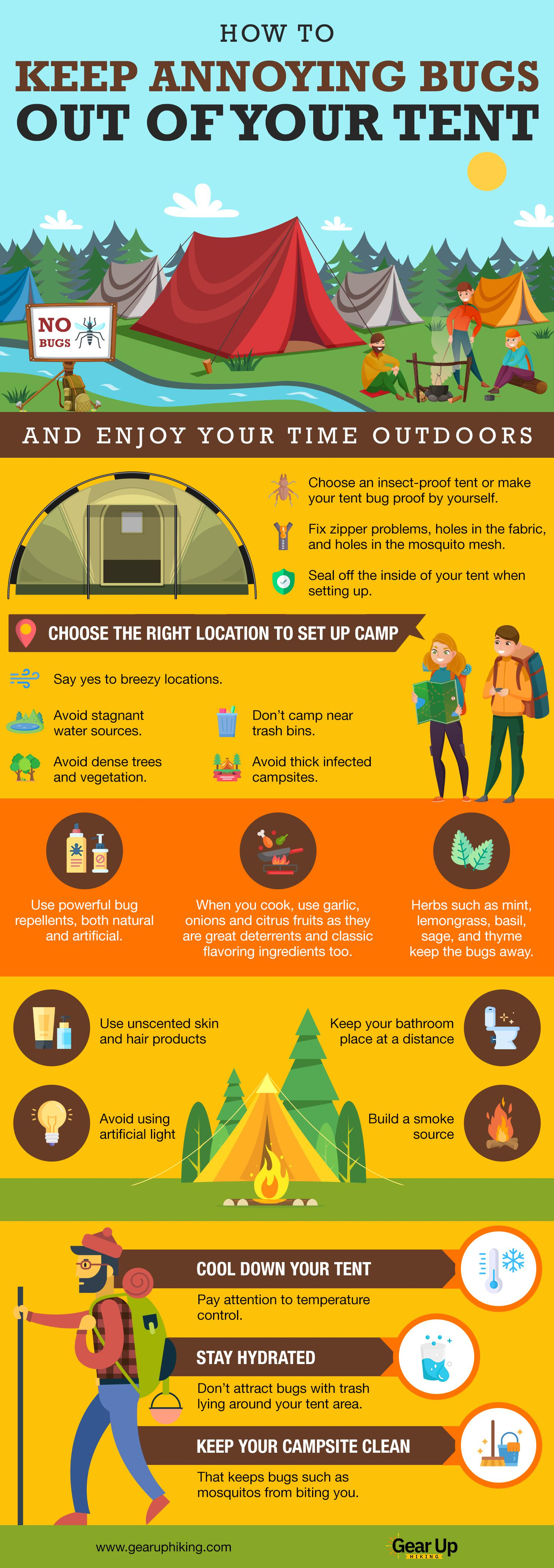 How To Keep Annoying Bugs Out Of Your Tent