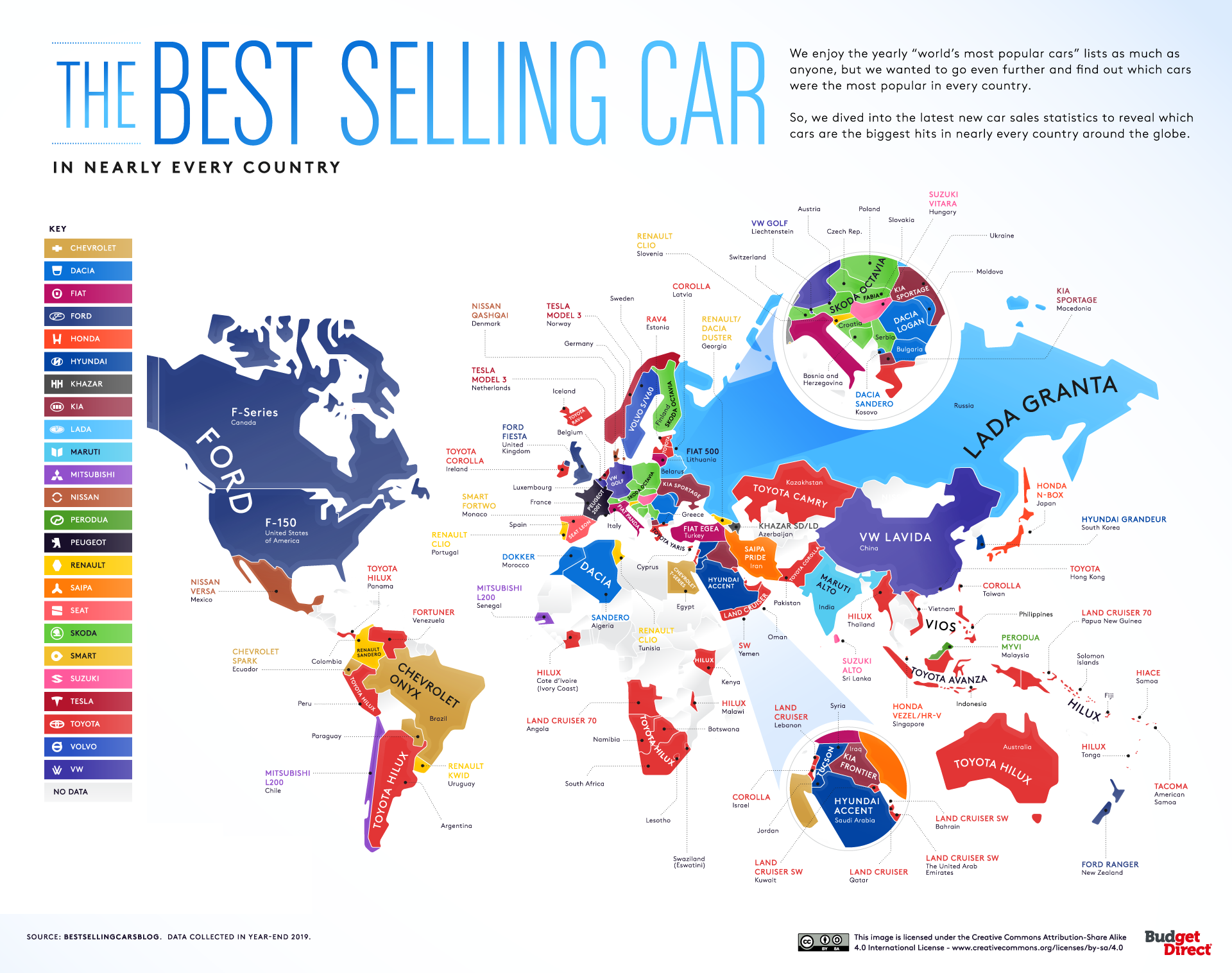 The Best Selling Car in Nearly Every Country